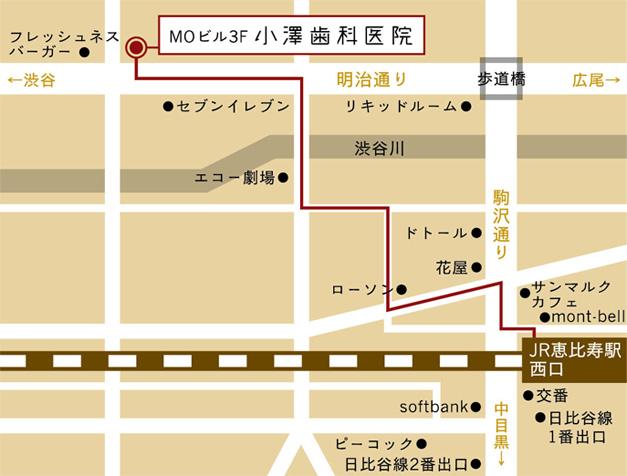 小澤歯科医院へのアクセス